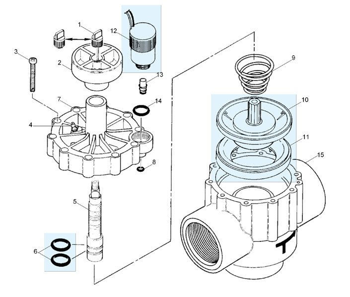 Tractor Sprinkler Parts Repair : Valve replacement parts